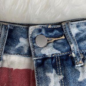 Bullhead Shorts - Bullhead Denim Co. High Rise American Flag Shorts